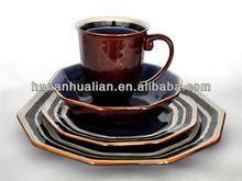 2014 newly developed ceramic polygon dinnerware set soup bowl