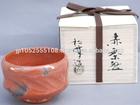 Various types of traditional tea utensils as ceramic tableware