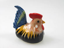 Handmade Miniature Craft Collectible Porcelain Ceramic Chicken FIGURINES