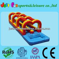 cheap backyard inflatable slip slide, two line slip n slide