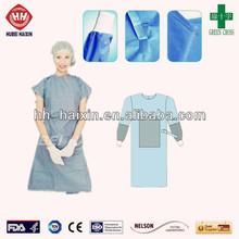Paciente e médicos Anti estática SMMS reforçar vestido cirúrgico EN13485
