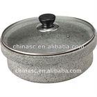 Straight-body stone pot enamel camp plates