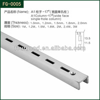 Display hanging slot / metal channel
