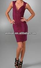 Kırmızı anne gelin elbise seksi v- boyun bandaj elbiseler am135