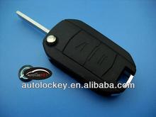 Top quality opel flip key case for Opel 2 button flip modified remote key blank HU100 blade