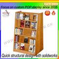 estante de exhibición profesional proveedor de fabricación 5 estantes de madera estante de libro