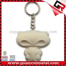 Fashion low price soft pvc 3d key chain