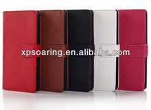 Wallet PU lychee case pouch bag for For Sony Xperia Z1 mini