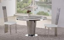 elegant round glass dining table set