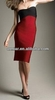 black and red bandage dress boob tube top most popular evening dress women AM169