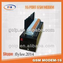 16 port GSM MODEM / SMS to send bulk sms/2012 new cell phone