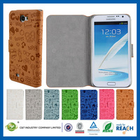 C&T Cute Faerie Pattern PU Leather Wallet Case for Samsung Galaxy Note2