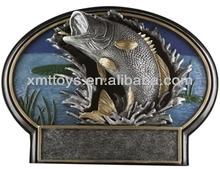 resin Bass Fishing Bu trophy cup
