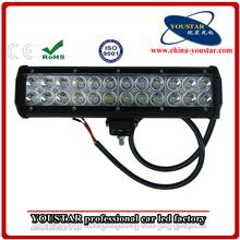 """12"""" 72W LED bar light, 4X4, Off road, 3w/led light bar tractor, UTV, ATV, Boat, led light bars"""