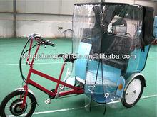 Modern rickshaw front passenger