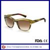 Cat Eye Style Acetate Stripe 2014 Sunglasses For Women
