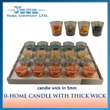 0-HOME CANDLE WITH THICK WICK PARAFFIN B
