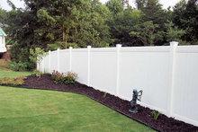 Vinyl plastic, UV protection garden fence
