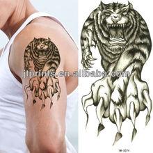 Black temporay sticker skin body tattoo tiger