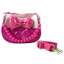 beautiful girl leather handbags princess bag Clutch With Bowknot Children Handbag