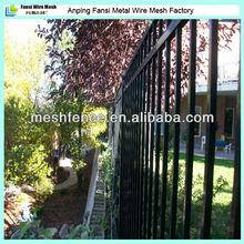 Dupont powder coated metal wrought iron fence hangzhou