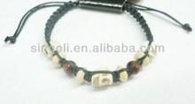 2014 new product fake jade skull braided bracelet