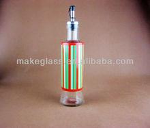Glass bottle for vinegar or oil