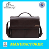 new best leather briefcase brand name embossed bags factory