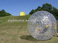 human sphere used zorb ball game