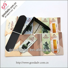 Custom fold up bookmark / paper folding bookmark / magnetic bookmark clip