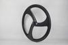 super lightweight tri spoke wheel for road bike with 3k/ud matte or glossy finish