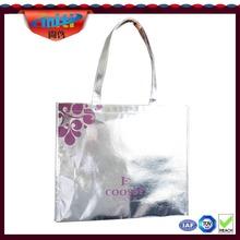 Non woven tote/gift bag Non woven shopping bag shining Non woven bags with aluminium coating