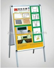 China Office suppliers outside Sidewalk Display Clamp Stand