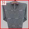 straped intarsia italian cashmere sweater for men
