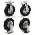 """4 pcs 8"""" pneu do ar rodas do rodízio rígida 2pc 2pc giro pesados"""