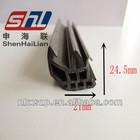 black 24.5-21mm extruded angle rubber original silicone extrusion seal ,rubber edge strip