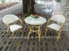 Aluminum Frame Bamboo look like Patio Furniture