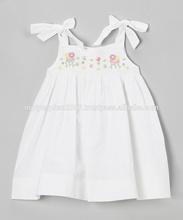 White gardern smocked sundress infant toddler