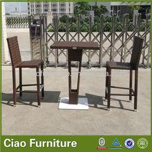 Outdoor cheap high end rattan bar stools wholesale