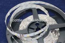 3.44usd/m flexible led strip (Epistar)5000k ;input dc12v;white color; 7.2w/m power; non-waterproof led strip light 12v ;5050 smd