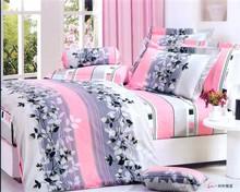 new style cotton luxury pleat bedding set 3d 3 pcs 100%cotton embroidery lovely fashion design 100% Cotton heart design