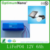Solar Battery LiFePO4 Battery 12V 6Ah battery for solar home light
