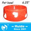 Red Ceramic Pet Food Bowl,pet bowl with heart design