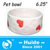 Pink Ceramic Pet Food Bowl,round pet bowl