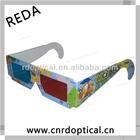 custom paper anaglyph 3d glasses