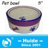 round shape paw design ceramic pet dog feeder