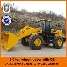Cat licensed engine,CE,4WD,5ton,joystick control, big wheel loader with diesel engine