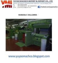 used Marzoli cotton carding machine