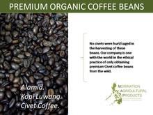 Premium Organic Coffee Beans- Kopi Luwak, Alamid, Civet
