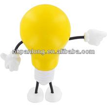 fashion gift cheap pu ball yello lightbulb figuare stress ball